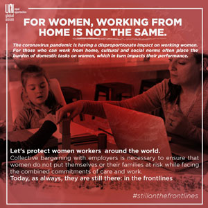 Poster - For women, working from home is not the same - in english